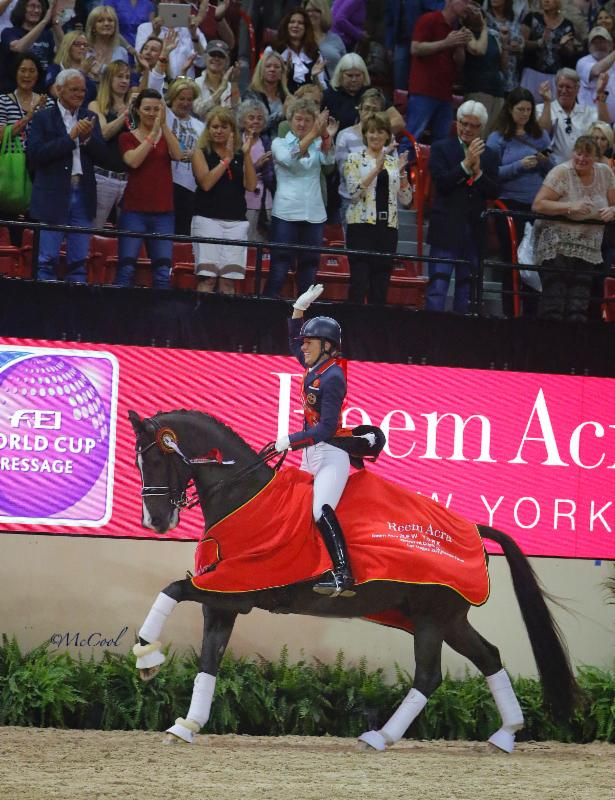 Charlotte Dujardin Crowned Champion at 2015 Reem Acra FEI World Cup