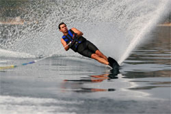 Round Slalom Waterskiing  Tournament