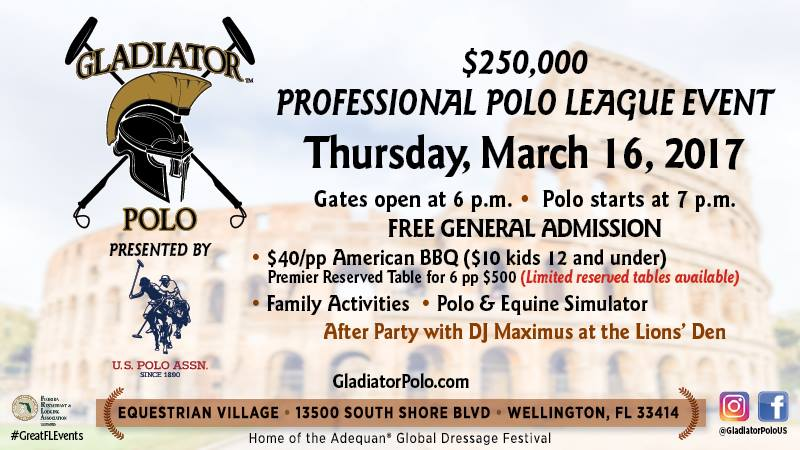 Gladiator Polo Tonight!